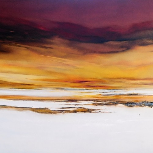 025.KATHERINE-WOOD-Into-The-Light-80cm-x-150cm-mixed-media-and-oil-on-canvas $ 4,000.00